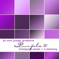 AdobeCC Photoshop Purple Gradation Free grd フォトショップ パープル グラデーション 無料 素材 20 soft purple gradients