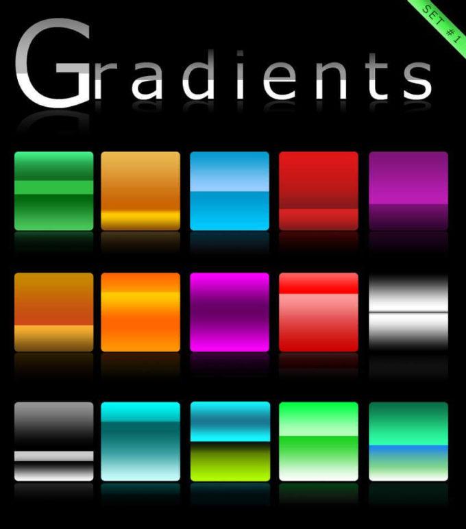 Photoshop Gradation Free grd フォトショップ グラデーション 無料 素材 Gradients set 1