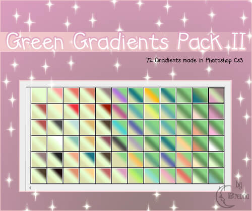 Photoshop Green Gradation Free grd フォトショップ グリーン グラデーション 無料 素材 Photoshop Green Gradients Pack II