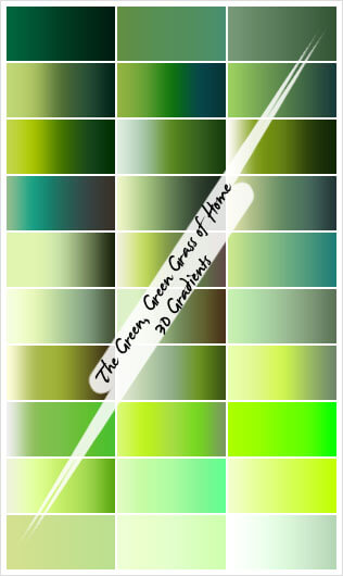 Photoshop Green Gradation Free grd フォトショップ グリーン グラデーション 無料 素材 Green Green Grass of Home