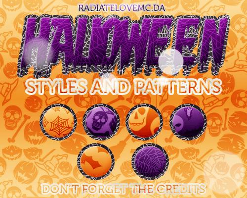 Halloween patterns ハロウィーン フォトショップ パターン テクスチャー 無料 Halloween Styles and Patterns