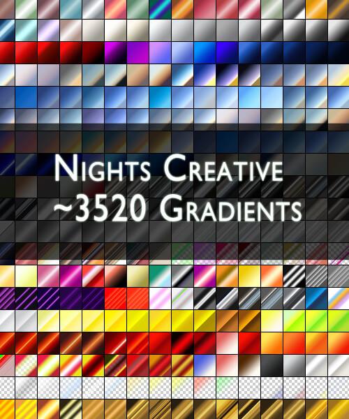 Photoshop Gradation Free grd フォトショップ グラデーション まとめ 無料 素材 NCreative 3520 PS Gradients