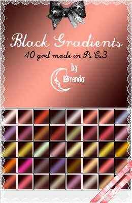 Photoshop Gradation Free grd フォトショップ グラデーション 無料 素材 Black Gradients