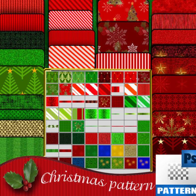 フォトショップ クリスマス パターン テクスチャー Photoshop Christmas Pattern
