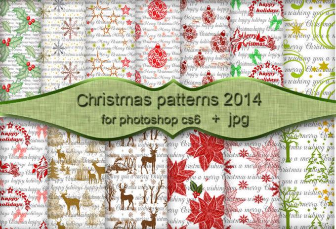 フォトショップ パターン テクスチャー クリスマス Christmas Patterns
