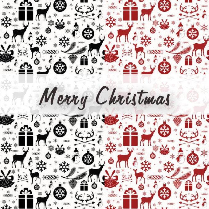 フォトショップ パターン テクスチャー クリスマス Free Christmas Photoshop Patterns