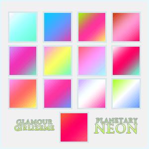 Photoshop Gradation Free grd フォトショップ グラデーション 無料 素材 Glamourgirlizeme Gradients- Planetary Neon