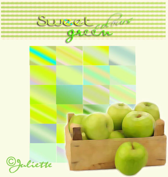 Photoshop Gradation Sweet Green Colours