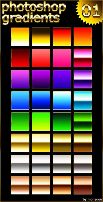 Photoshop Gradation Free grd フォトショップ グラデーション 無料 素材 photoshop gradients 01