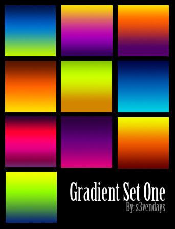 Photoshop Gradation Free grd フォトショップ グラデーション 無料 素材 Gradient Set One
