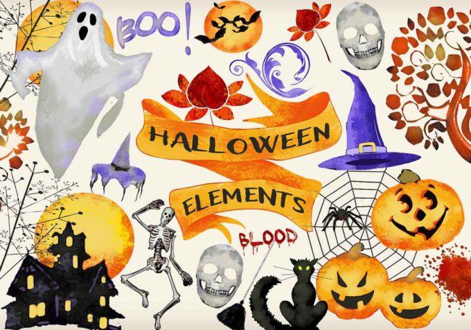 Halloween patterns ハロウィーン フォトショップ パターン テクスチャー 無料 Halloween Elements PSD