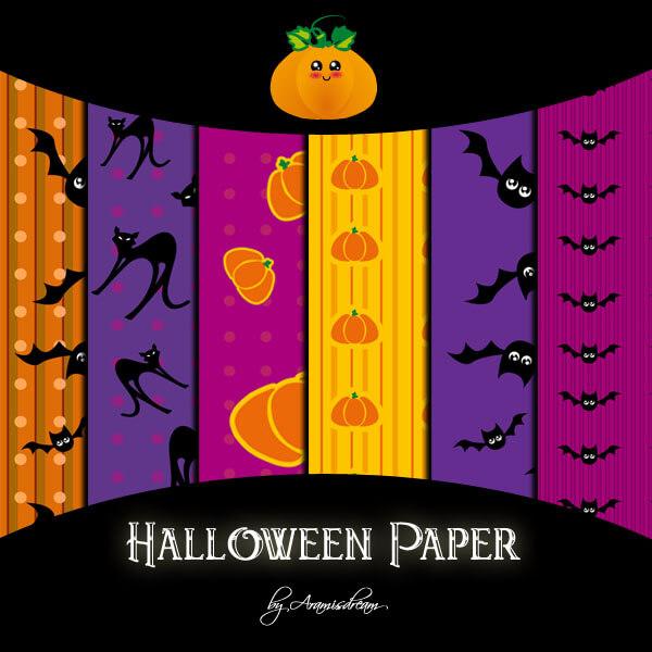 Halloween patterns ハロウィーン フォトショップ パターン テクスチャー 無料 Halloween paper