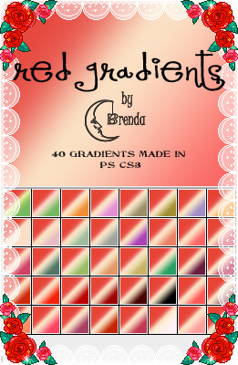 Photoshop Red Gradients