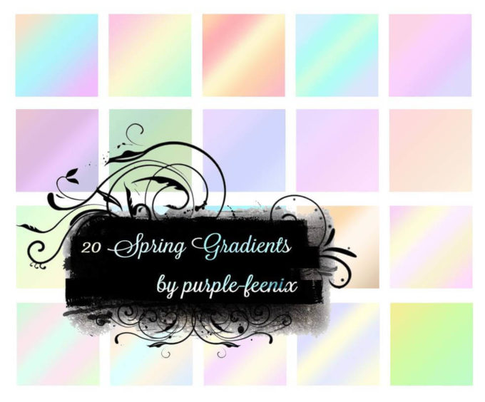 Photoshop Gradation Free grd フォトショップ グラデーション 無料 素材 purple-feenix Spring Gradients