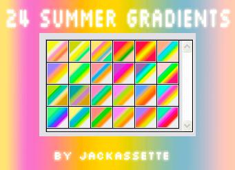 Photoshop Gradation Free grd フォトショップ グラデーション 無料 素材 Summery Gradients