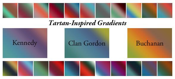 Photoshop Gradation Free grd フォトショップ グラデーション 無料 素材 Tartan-Inspired Gradients