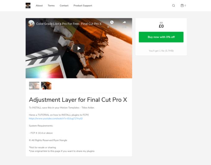 Adjustment Layer ダウンロードサイト
