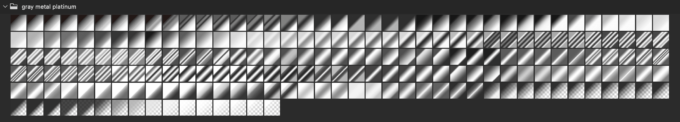 Adobe CC Photoshop Gradation Preset フォトショップ グラデーション プリセット 無料 素材 セット .grd シルバー メタル