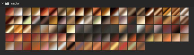 Adobe CC Photoshop Gradation Preset フォトショップ グラデーション プリセット 無料 素材 セット .grd セピア