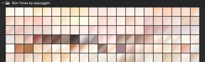 Adobe CC Photoshop フォトショップ グラデーション プリセット skin tone スキン トーン 無料 素材 セット .grd