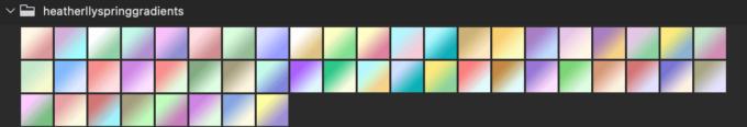 Adobe CC Photoshop フォトショップ グラデーション プリセット パステル 無料 素材 セット .grd