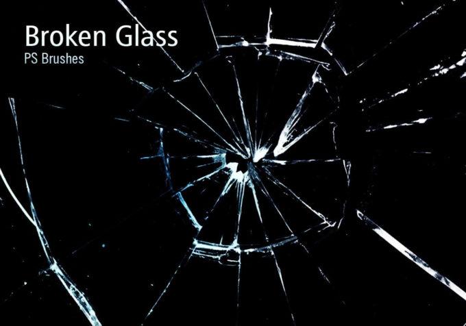 フォトショップ ブラシ Photoshop Brush 無料 イラスト クラック ひび割れ ヒビ 亀裂 ガラス 20 Broken Glass PS Brushes Abr.Vol.10