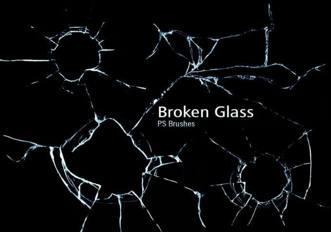 フォトショップ ブラシ Photoshop Brush 無料 イラスト クラック ひび割れ ヒビ 亀裂 ガラス 20 Broken Glass PS Brushes Abr.Vol.11