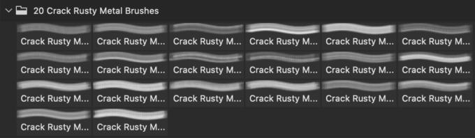 フォトショップ ブラシ Photoshop Brush 無料 イラスト クラック ひび割れ ヒビ 亀裂 Crack Rusty Metal Ps Brushes Abr.