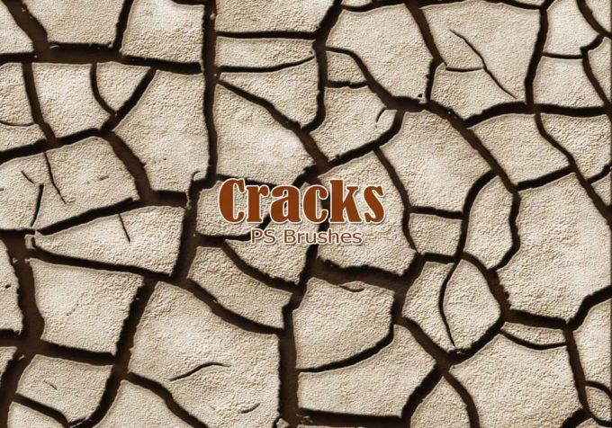 フォトショップ ブラシ Photoshop Brush 無料 イラスト クラック ひび割れ ヒビ 亀裂 20 Cracks PS Brushes Abr.Vol.6