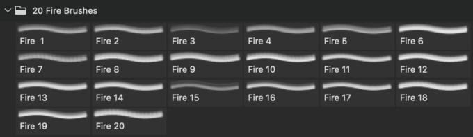 フォトショップ ブラシ Photoshop Brush 無料 イラスト 火 炎 ファイヤー 20 Fire PS Brushes Abr.Vol.11