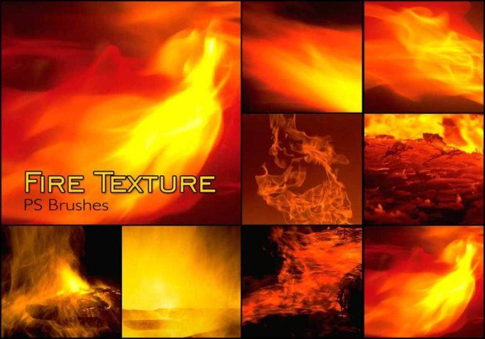 フォトショップ ブラシ Photoshop Brush 無料 イラスト 火 炎 ファイヤー Firest20 Fire Texture PS Brushes Abr.Vol.17