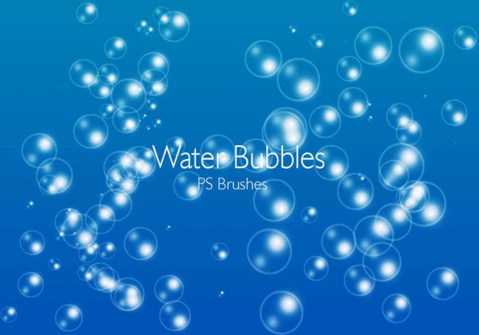 フォトショップ ブラシ Photoshop Brush 無料 イラスト 泡 バブル 20 Water Bubbles PS Brushes Abr.Vol.1