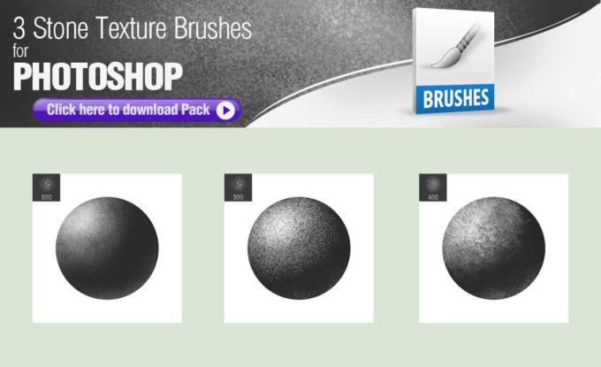 フォトショップ ブラシ Photoshop Brush 無料 イラスト ロック 岩 石 ストーン 3 Stone Texture Brushes for Painting
