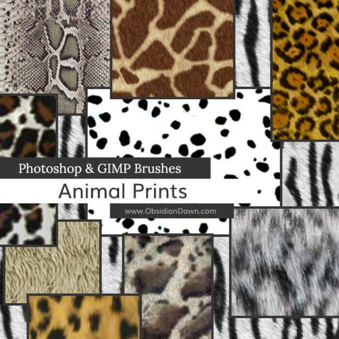 フォトショップ ブラシ Photoshop Animal Brush 無料 イラスト 動物 アニマル Animal Prints Photoshop and GIMP Brushes