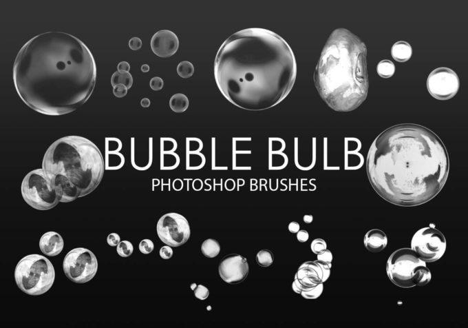フォトショップ ブラシ Photoshop Brush 無料 イラスト 泡 バブル Bubble Bulb Photoshop Brushes