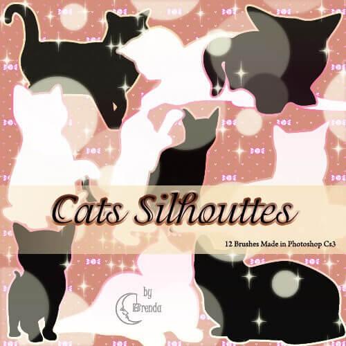 フォトショップ ブラシ Photoshop cat Kittie Brush 無料 イラスト 猫 キャット Cats Silhouettes Brushes