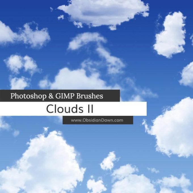 フォトショップ ブラシ 無料 雲 クラウド Clouds II Photoshop and GIMP Brushes