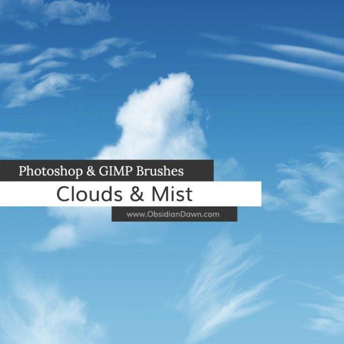フォトショップ ブラシ 無料 雲 クラウド Clouds - Mist Photoshop and GIMP Brushes