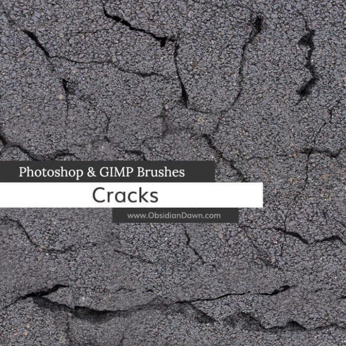 フォトショップ ブラシ Photoshop Brush 無料 イラスト クラック ひび割れ ヒビ 亀裂 壁 Cracks Photoshop and GIMP Brushes