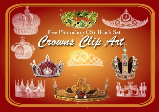 フォトショップ ブラシ Photoshop Crown Brush 無料 イラスト クラウン 冠 王冠 Royalty Photoshop Brushes 2