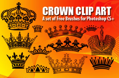 フォトショップ ブラシ Photoshop Crown Brush 無料 イラスト クラウン 冠 王冠 12 Crown Clip Art Photoshop Brushes Vol.1