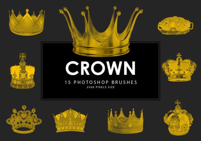 フォトショップ ブラシ Photoshop Crown Brush 無料 イラスト クラウン 冠 王冠 Crown Photoshop Brushes