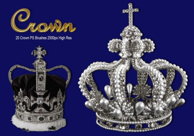 フォトショップ ブラシ Photoshop Crown Brush 無料 イラスト クラウン 冠 王冠 Crown PS Brushes