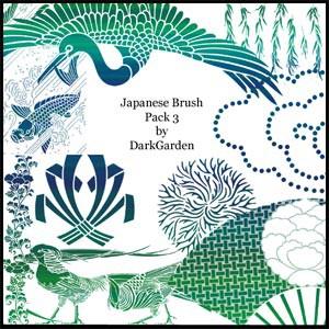 フォトショップ ブラシ Photoshop Japanese Brush 無料 イラスト  和 和風 和柄 Japanese Brush Pack 3
