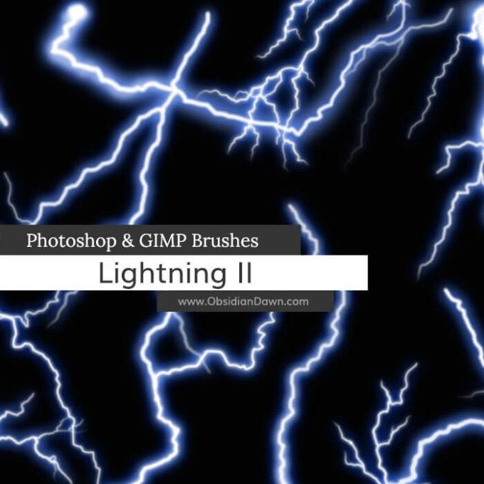 フォトショップ ブラシ Photoshop Brush 無料 イラスト 雷 ライトニング Lightning II Photoshop and GIMP Brushes