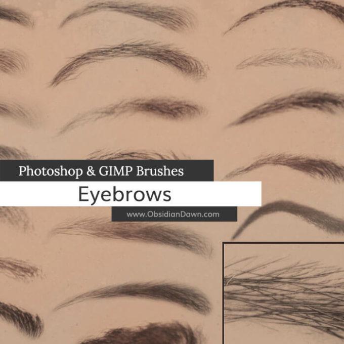 フォトショップ ブラシ テクスチャ キャンパス Photoshop Brush 無料 イラスト 毛 髪の毛 眉毛 Eyebrows Photoshop and GIMP Brushes