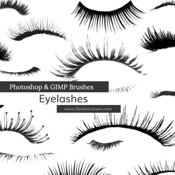 フォトショップ ブラシ テクスチャ キャンパス Photoshop Brush 無料 イラスト 毛 髪の毛 まつげ Eyebrows Photoshop and GIMP Brushes