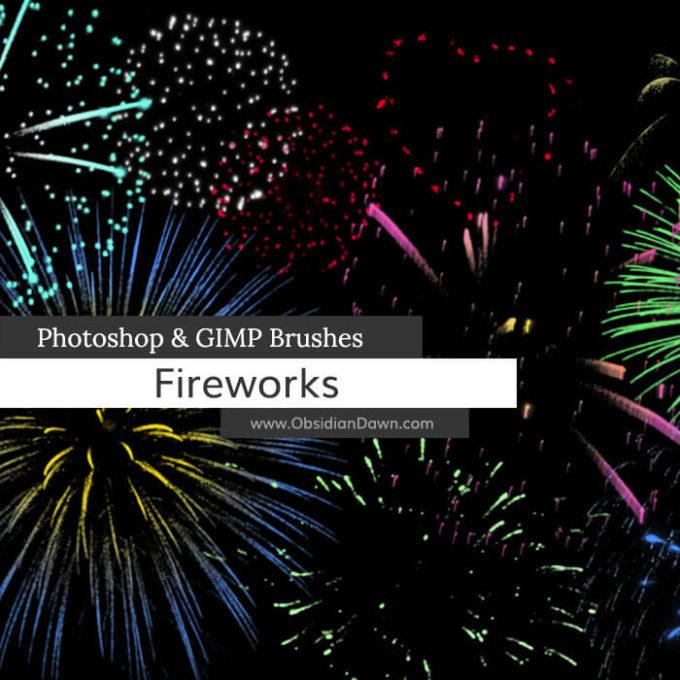 フォトショップ ブラシ Photoshop Brush 無料 イラスト 光 ビーム グリッター スパーク パーティクル 花火 Fireworks Brushes