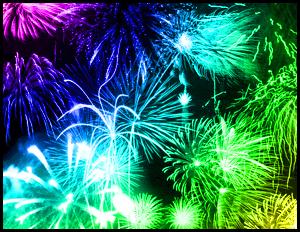 フォトショップ ブラシ Photoshop Brush 無料 イラスト 光 ビーム グリッター スパーク パーティクル 花火 Fireworks Photoshop Brushes