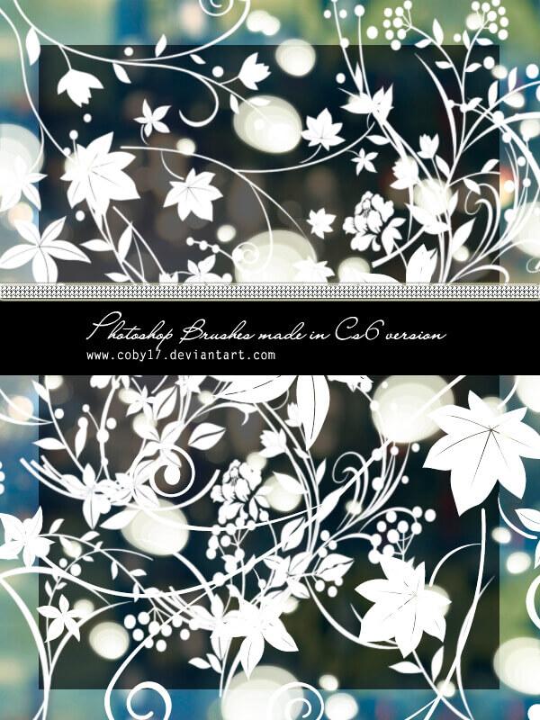 フォトショップ ブラシ Photoshop Brush 無料 Flower イラスト 花 フラワー Floral swirls HD Photoshop Brushes